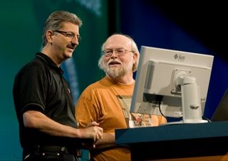 Sven Reimers and James Gosling, members of NetBeans Dream Team