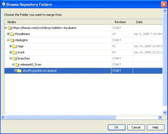Browse Repository Folders (Click to enlarge)