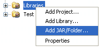 right-click Libraries Node (Click to enlarge)